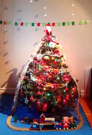 train themed christmas tree