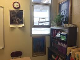 classroom window. East Spanish Teacher Beth Kastner Plans For Her Students To Escape Through The Classroom Window In Event Of An Intruder Scenario. S