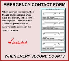 Emergency Contact Forms For Children Rapid Child Rescue Parent Corner