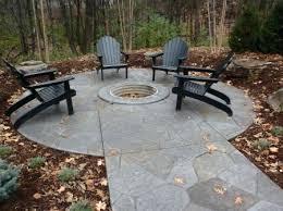 concrete patio designs with fire pit. Concrete Fire Pit Table Patio Designs With Stamped And Gas C