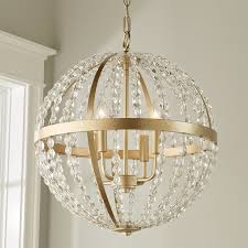 gold crystal globe chandelier
