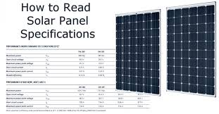 How Do I Read The Solar Panel Specifications Solar Power