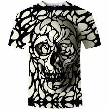 Design Skull T Shirt Wholesale New Design Skull Print Mens Tshirt Fashion 3d T Shirt Summer Short Sleeve Casual Breathable Tops Tee Plus Size 5xl T Shirt Homme Awesome