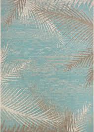 couristan monaco tropical palms indoor outdoor runner rug aqua 2 3
