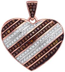 red diamond heart pendant 10k rose gold 0 31 cts gd 88452