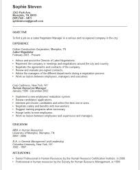 Examples Of Objectives On Resumes General Objectives For Resumes Plus Radio Info