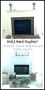 paint brick fireplace colors painted beautiful remodel good fireplaces