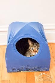diy cat bed diy cat tent bed