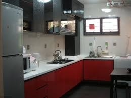 Red And Black Kitchen Cabinets Red And Grey Kitchen Cabinets Quicuacom