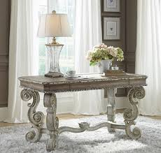 french style writing desk with baroque type legs from accentrics home by pulaski furniture the