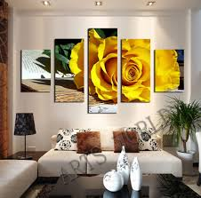Oil Paintings For Living Room Aliexpresscom Buy Beautiful Yellow Roses Oil Painting On Canvas