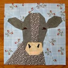 Cow quilt block, paper pieced quilt pattern, PDF pattern, instant ... & Cow Pattern. Turned out really well and was lots of fun piecing it together. Adamdwight.com