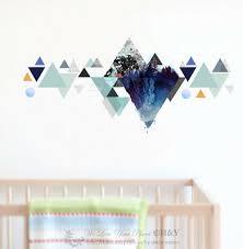 geometric mountain wall sticker kids