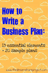 small business startup plan sample businessplan entrepreneur side hustle business planning