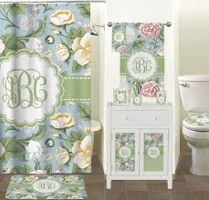 vintage floral shower curtain (personalized)  potty training concepts