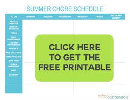 Chore Lists For Teens Summer Chore List For Teens
