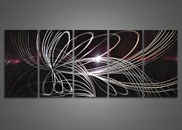 modern abstract metal wall art painting 60 x 24in fabu art for abstract metal wall