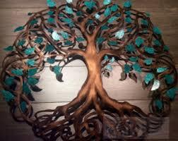teal sparkle tree of life infinity tree wall decor wall art metal art on metal art tree of life wall hanging with tree of life metal wall art talentneeds