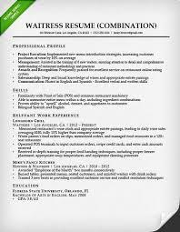Waitressing Resume Waitress Administrative Assistant Resume Professional
