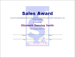 Sales Award Template Blue Layouts
