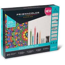 coloring set. Contemporary Set Prismacolor Premier Adult Coloring Book Kit 25 Piece Set And