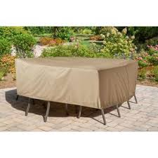 Image Allen Roth Hanover Tan Vinyl Dining Set Cover Lowes Patio Furniture Covers At Lowescom