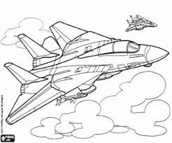 Kleurplaat Twee Gevechtsvliegtuigen Kleurplaten