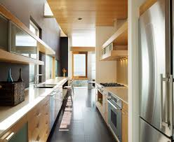 Contemporary Galley Kitchen Galley Kitchen Kitchen Contemporary With Crown Molding Back Door