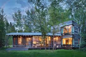 Contemporary Cabins Modern Rustic Cabin Montana