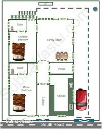 two bedroom south facing vastu home plan from subhavaastu com vastu shastra website