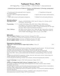 Resume Format Software Engineer Software Developer Experienced