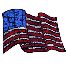 american flag word art american flag word cloud