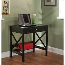 com simple living best choice wooden black writing desk with 1 drawer and shelf classic x design home kitchen