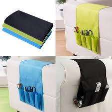 hanging sofa side storage bag cell phones remote control holder organizer foldable 4 pockets over armchair