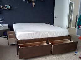 Image Of Modern IKEA Bed With Storage