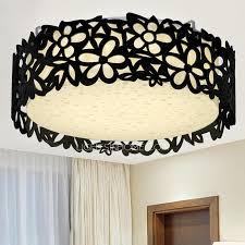 black flush mount ceiling light 19 6