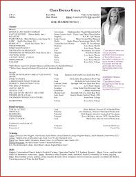 Actor Resume Template Theatre Resume Example Lovely Actor Cv