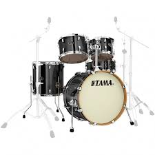 tama vd50rs bcb silverstar brushed charcoal black 5 piece shell set