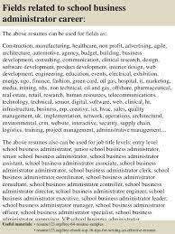 Administrator Resume Examples Top 8 School Business Administrator Resume Samples