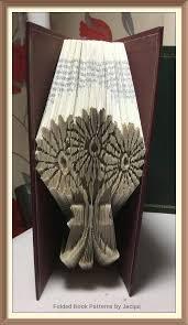 daisy flowers cut and fold book folding pattern by jhbookfoldpatterns on etsy