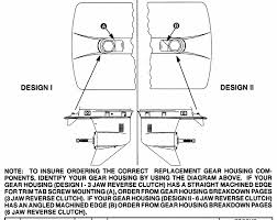 Mariner 75 Hp 3 Cylinder Gear Housing Chart 2 31 1 Gear