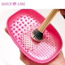 1pc makeup junkie brush cleansing palette makeup brush cleaner cleaning mat pad brush cleaner brush egg