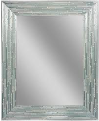 Deco Mirror 30 in. L x 24 in. W Reeded Sea Glass Wall Mirror | Oval wall  mirror, Mirror wall, Glass mirror