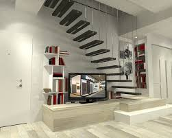 Floor Steps Design Straight Staircase Stone Steps Without Risers