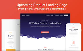 Rocket Startup Landing Page New Template From Zeroqode Showcase