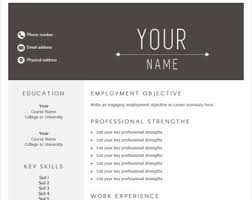 easy to use resume template professional 1 page template cv template simple and modern word template job template modern resume sleek easy to use resume templates
