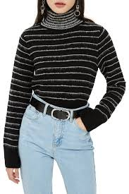 Rock N Roll Jeans Size Chart Topshop Rock N Roll Stripe Crop Turtleneck Nordstrom Rack