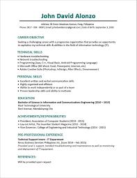 Sample Resume Of Fresh Graduate Business Administration New