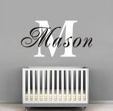 on personalized name wall art for nursery with baby nursery decor personalized name wall decals for