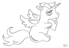 Disegno Di Unicorno Chibi Con Cuore Da Colorare Disegni Da